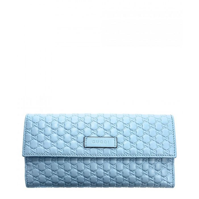 Image for Guccissima pale blue leather fold purse