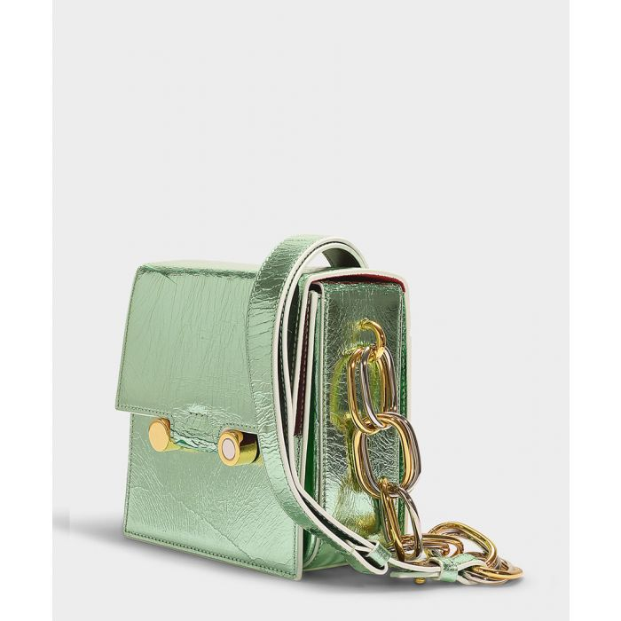Image for Small Caddy green leather crossbody