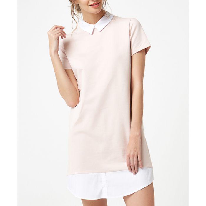 Image for Powder pink layered mini dress