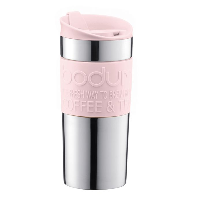 Image for Strawberry stainless steel travel mug