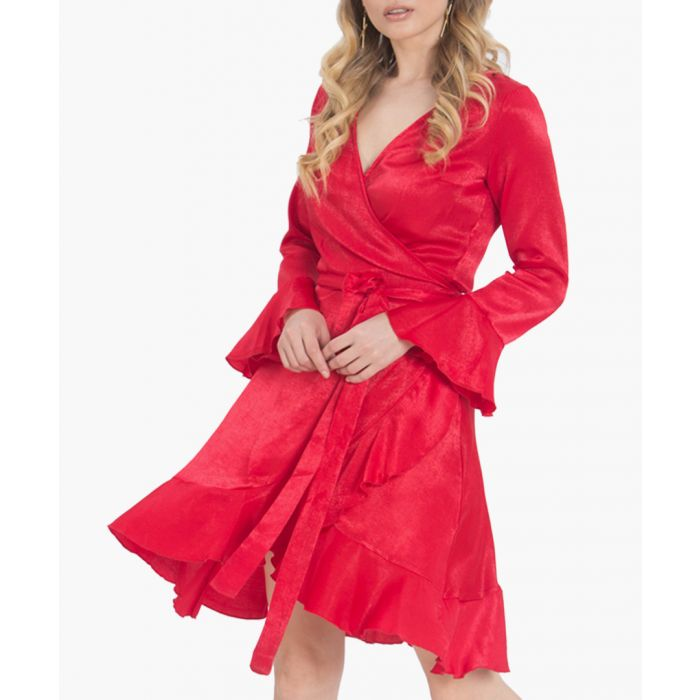 Image for Long sleeve wrap dress