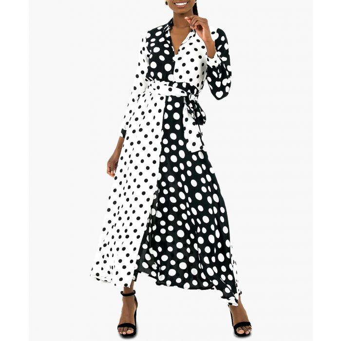 Image for Black and white polka dot maxi dress
