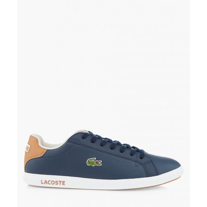 Image for Graduate navy leather trainers