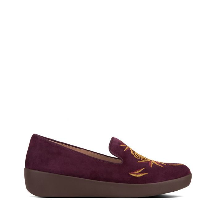 Image for Audrey berry embroidered slip-ons