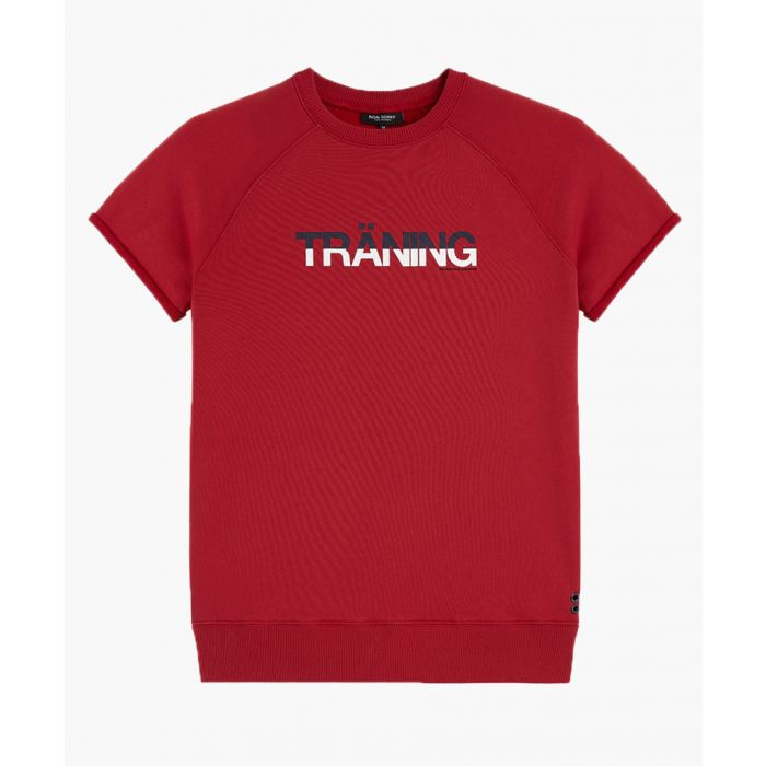 Image for Traning red cotton blend T-shirt