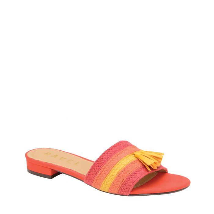 Image for Red stripe tassel sandals