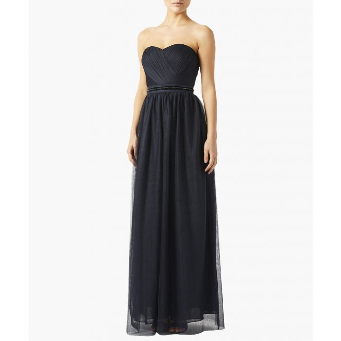 Image for Molly navy strapless evening dress