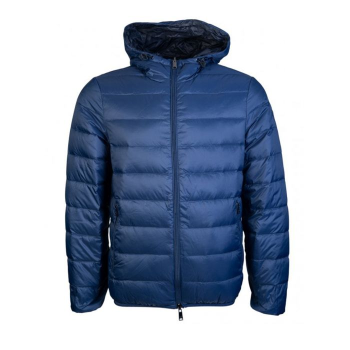 Image for Blue padded zip-up coat