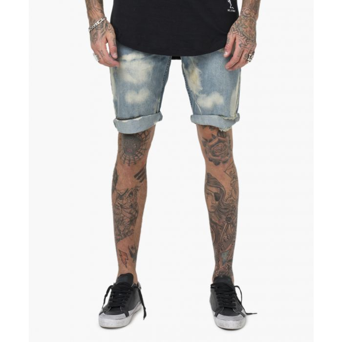 Image for ocean light wash cotton shorts