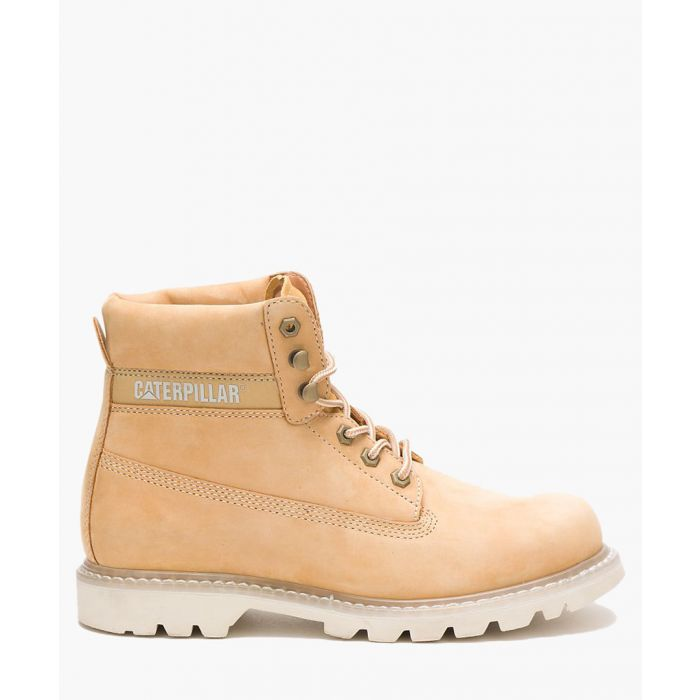 Image for Colorado beige leather lace-up boots