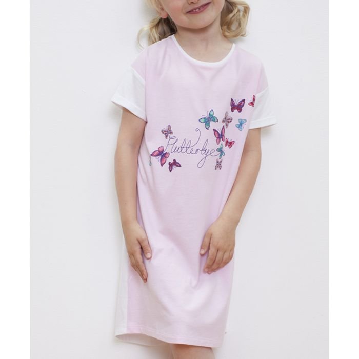 Image for Pink & white butterfly nightshirt