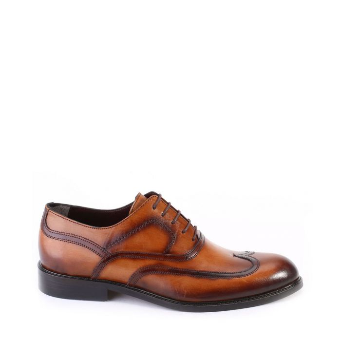 Image for Brown tarnished leather brogues