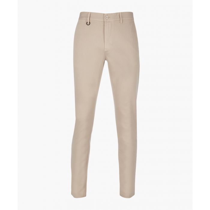 Image for SHARP stone cotton blend slim chinos