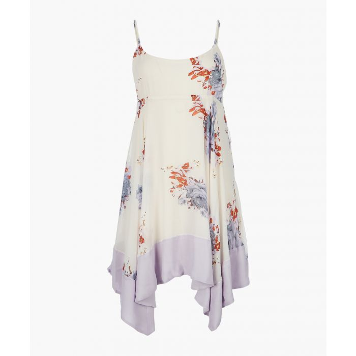 Image for Faded bloom ivory printed mini dress