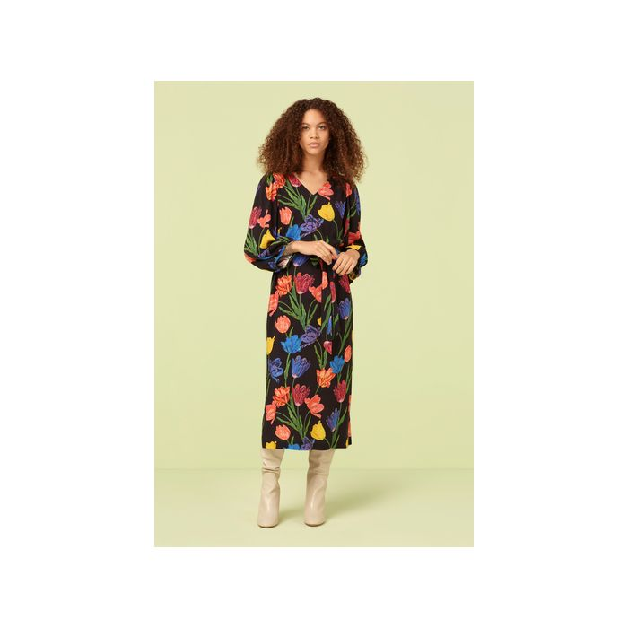 Image for Miria Budding Tulip Print Midi Dress - Multi