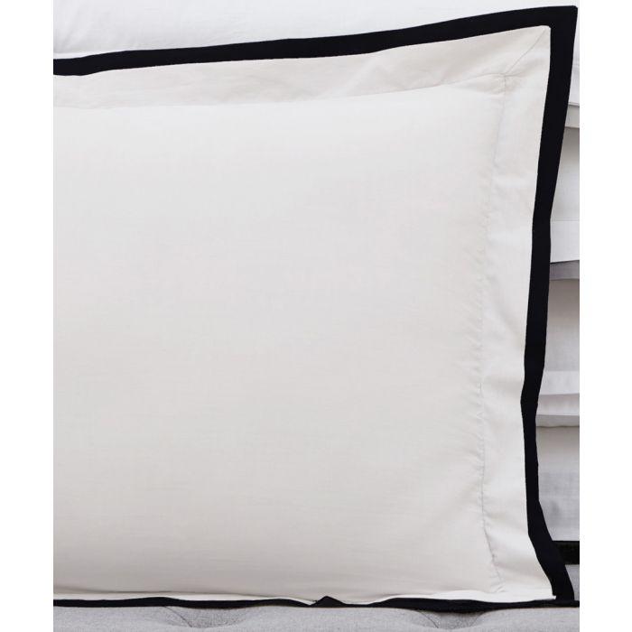 Image for 2pc Signature white & black pillowcase set