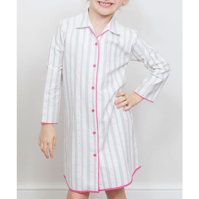Image for Erica grey striped nightshirt