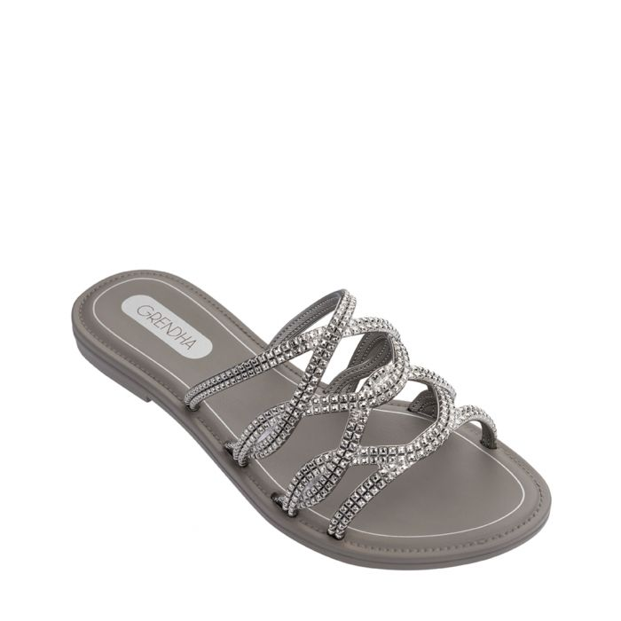Image for Beauty Slide Silver-tone sandals