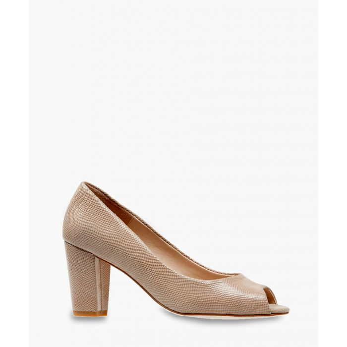 Image for Lassi powder leather peep-toe heels