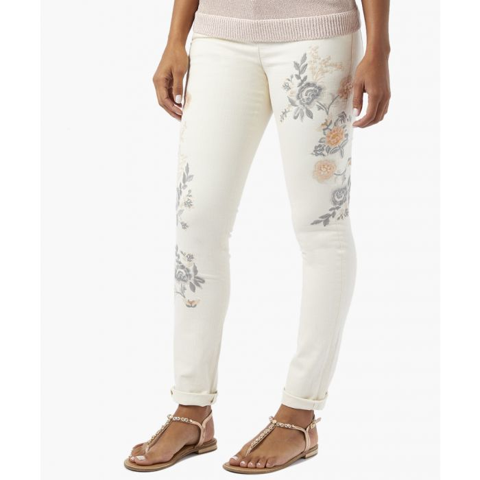 Image for Emery ivory floral embroidered jeans