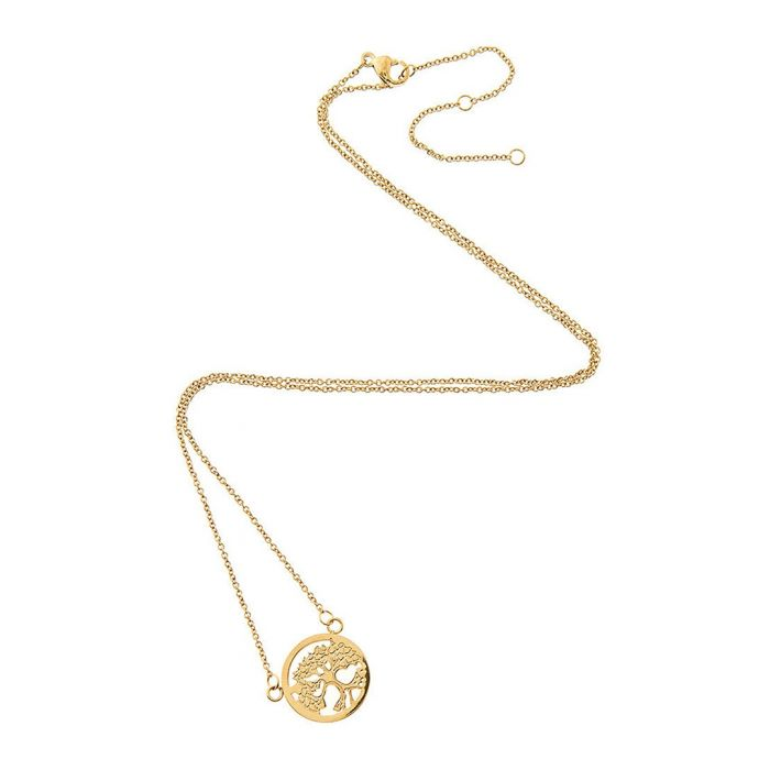 Image for 18k gold-plated steel necklace