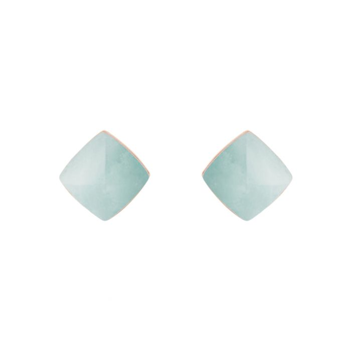 Image for Gold-tone & turquoise crystal studs