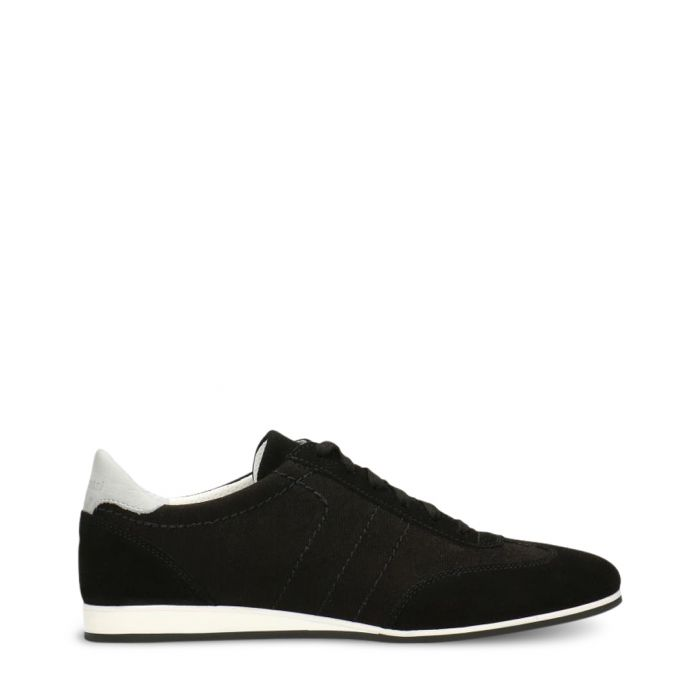 Image for Black & white suede stitch sneakers