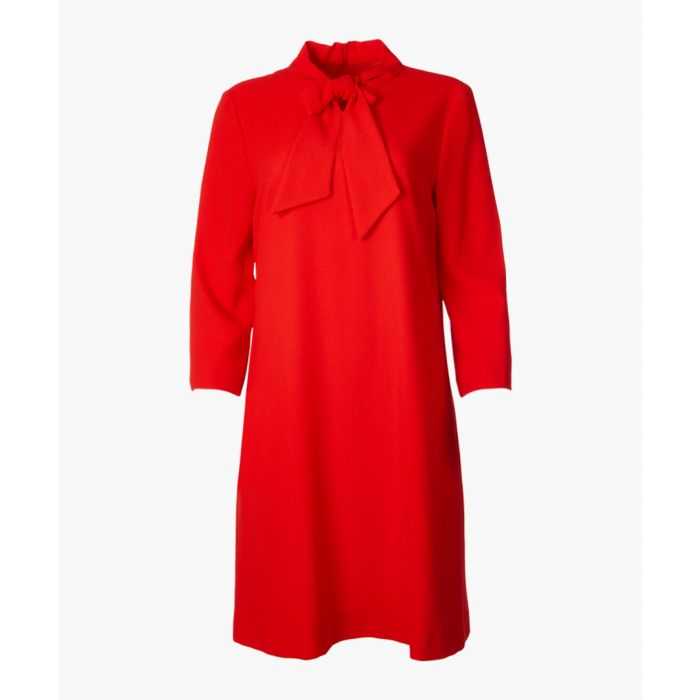 Image for Ginny vintage red pure wool crepe tunic