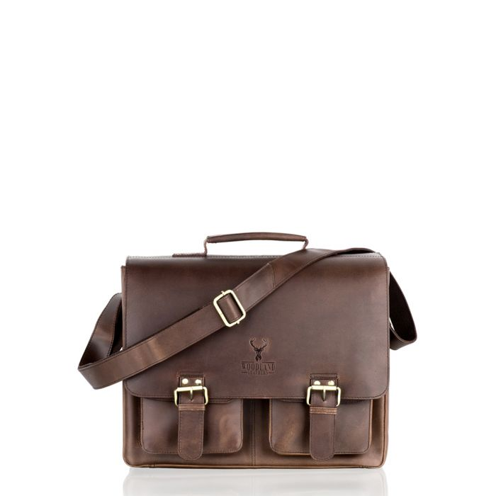 Image for Brown leather satchel