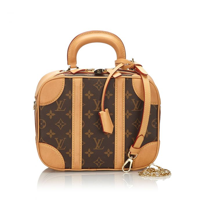 Image for Vintage Louis Vuitton Monogram Valisette PM Brown