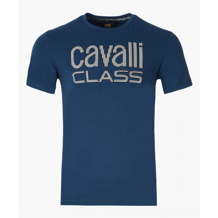 Image for Blue logo printed T-shirt