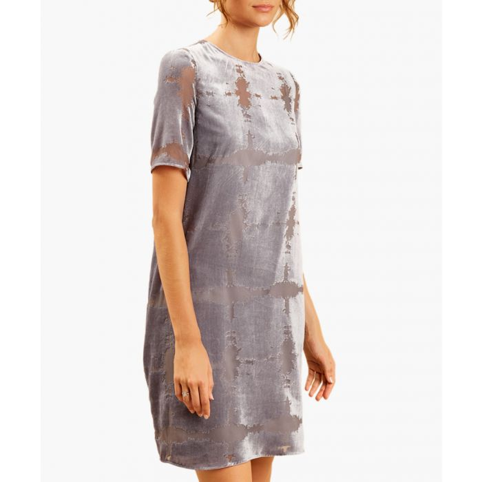 Image for Belinda grey devore dress