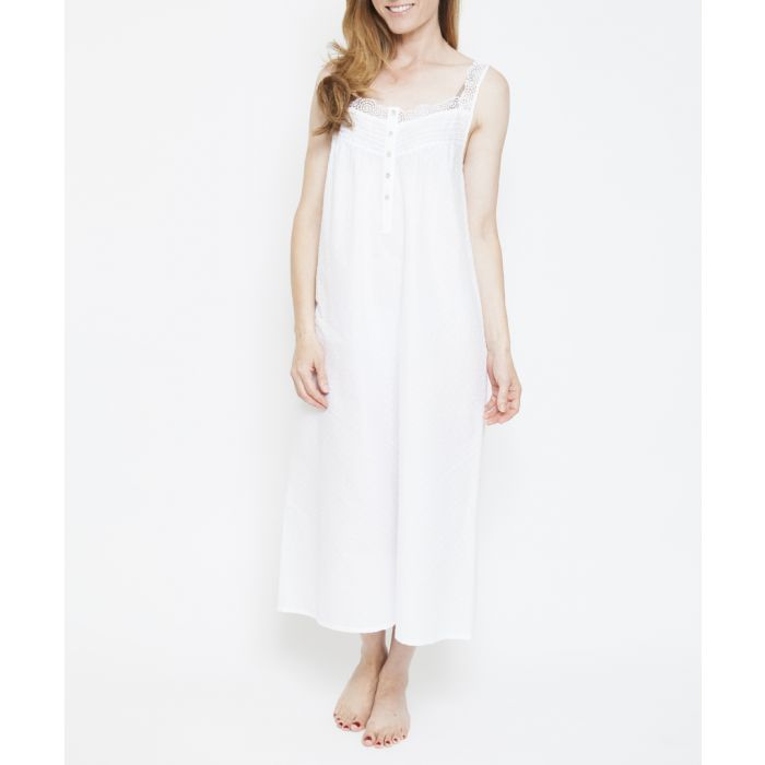 Image for Pearl white pure cotton nightdress