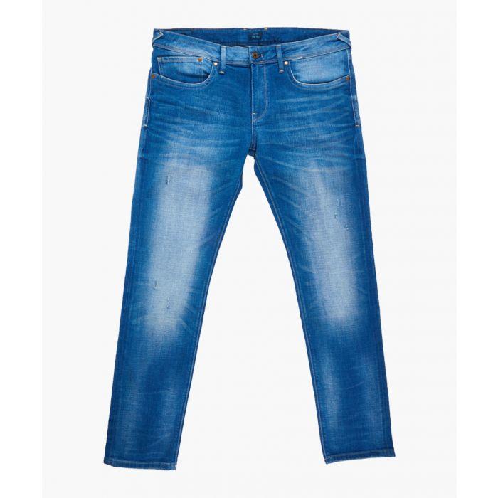 Image for Blue bleached denim jeans