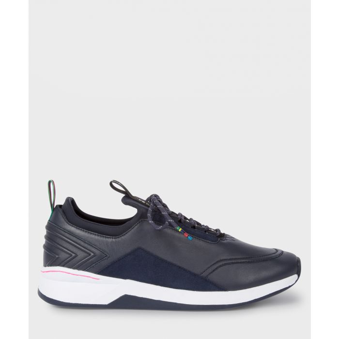 Image for Dark navy leather sneakers