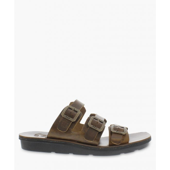Image for brown leather buckle sandals