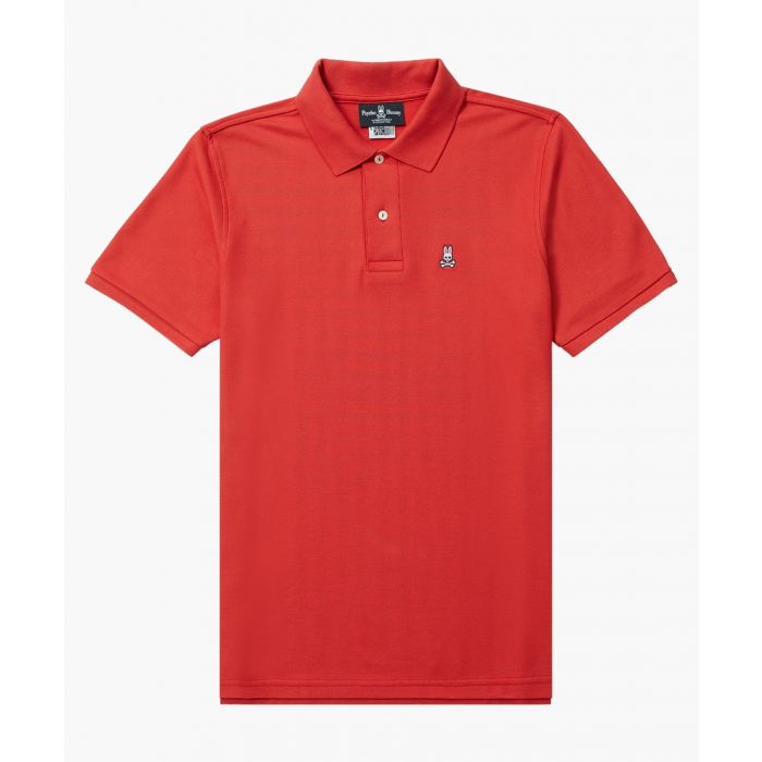 Image for Classic red cotton polo shirt