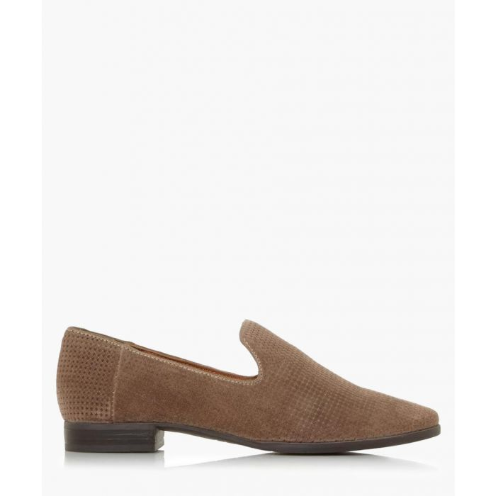 Image for Galia stone brown suede loafers