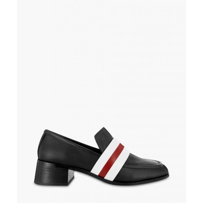 Image for Eli black leather slip-on shoes