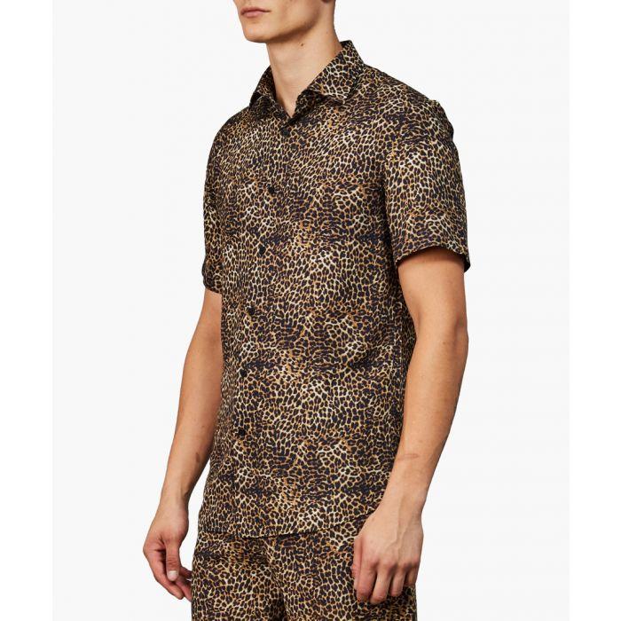 Image for Animal printed button-up shirt