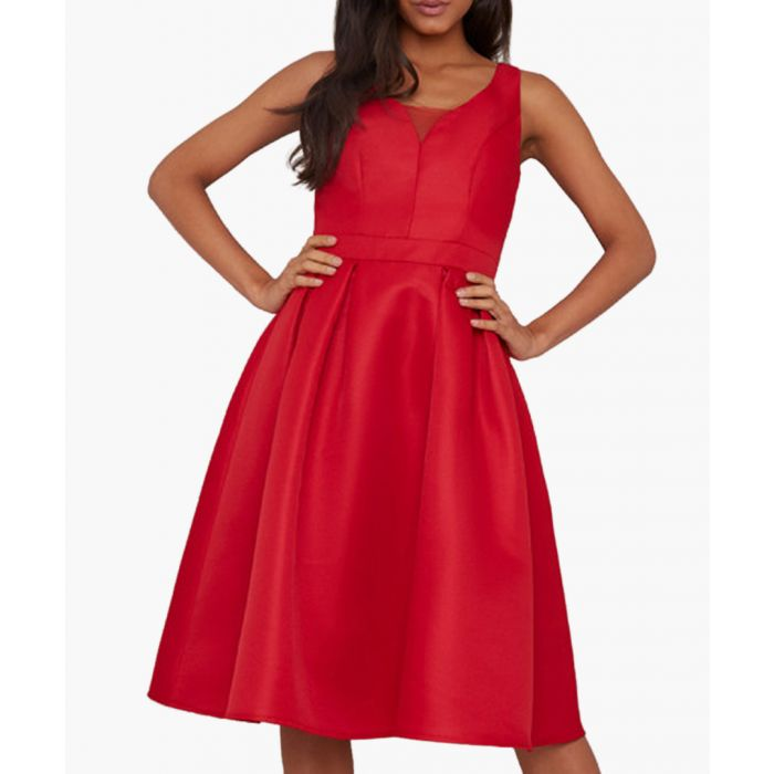 Image for Posy scarlet red sleeveless dress