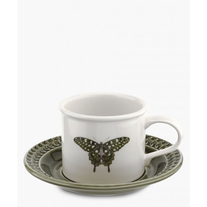 Image for 2pc Botanic Garden Harmony breakfast forest green cup and saucer