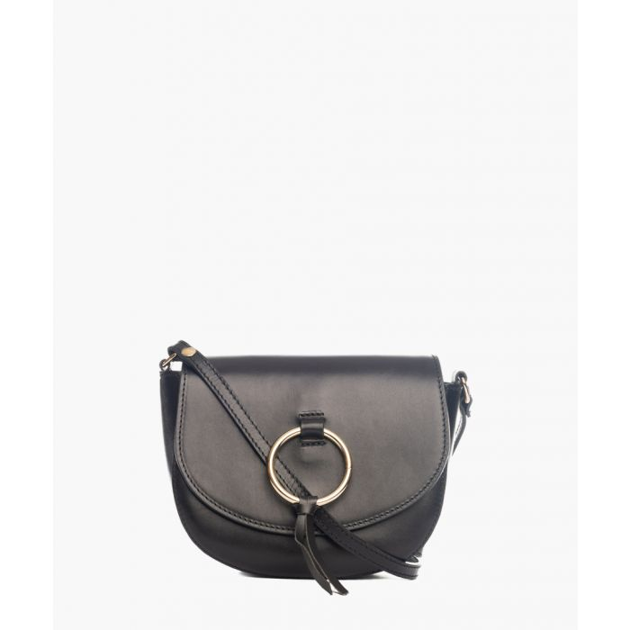 Image for Tidone black leather crossbody