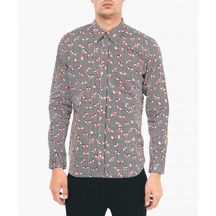 Image for Flamingo printed pure cotton shirt