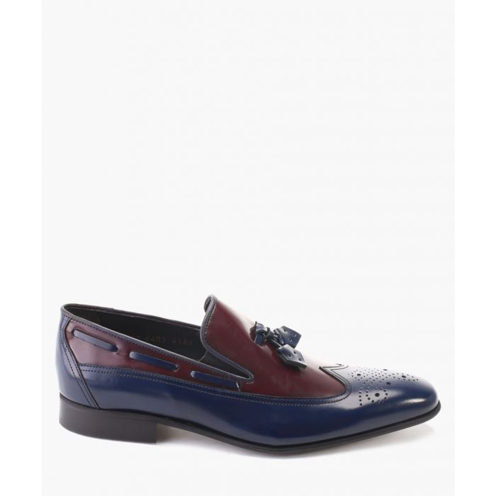 Image for Blue leather loafers