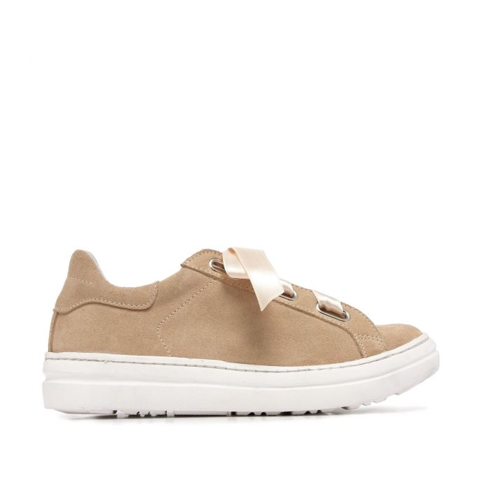 Image for Camel Suede Leather Sneakers Women Maria Barcelo