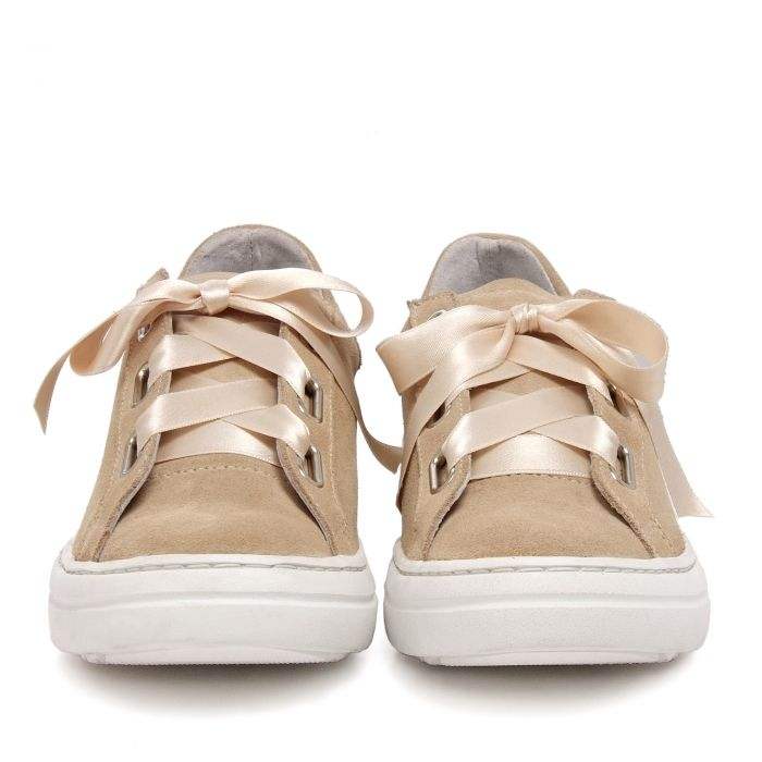 Image for Womens leather sneakers camel