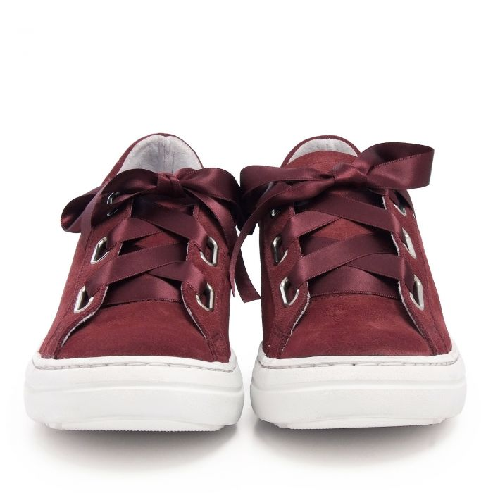 Image for Womens leather sneakers burgundy