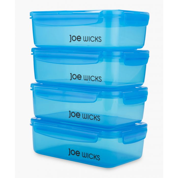 Image for 4pc blue rectangular container set 1400ml
