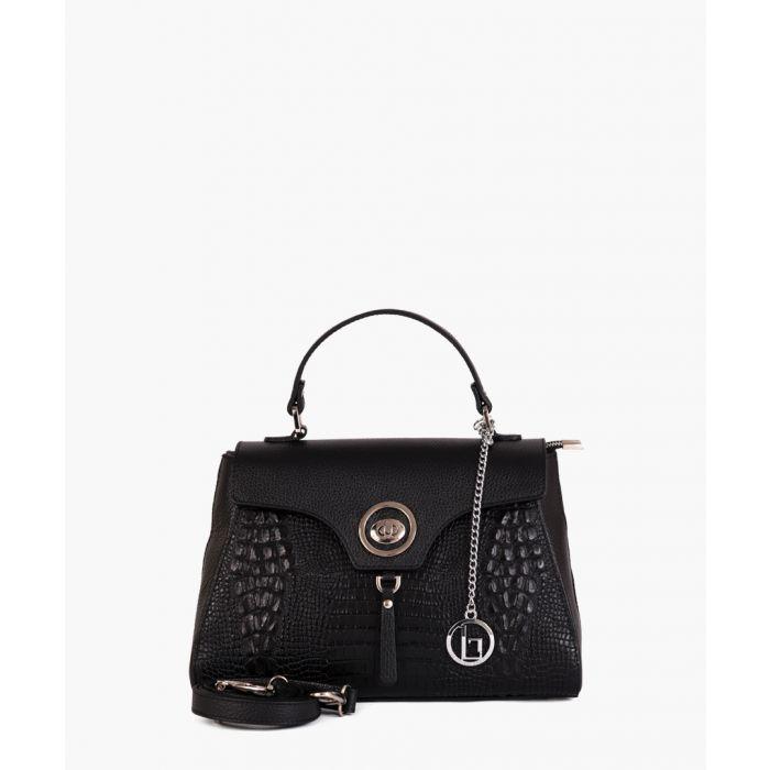 Image for Rosa black leather grab bag